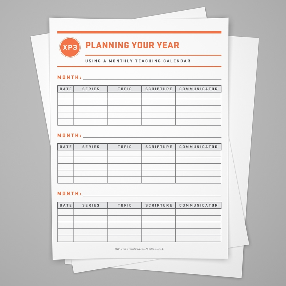 Teaching Calendar: Planning Your Year - Stuff You Can Use