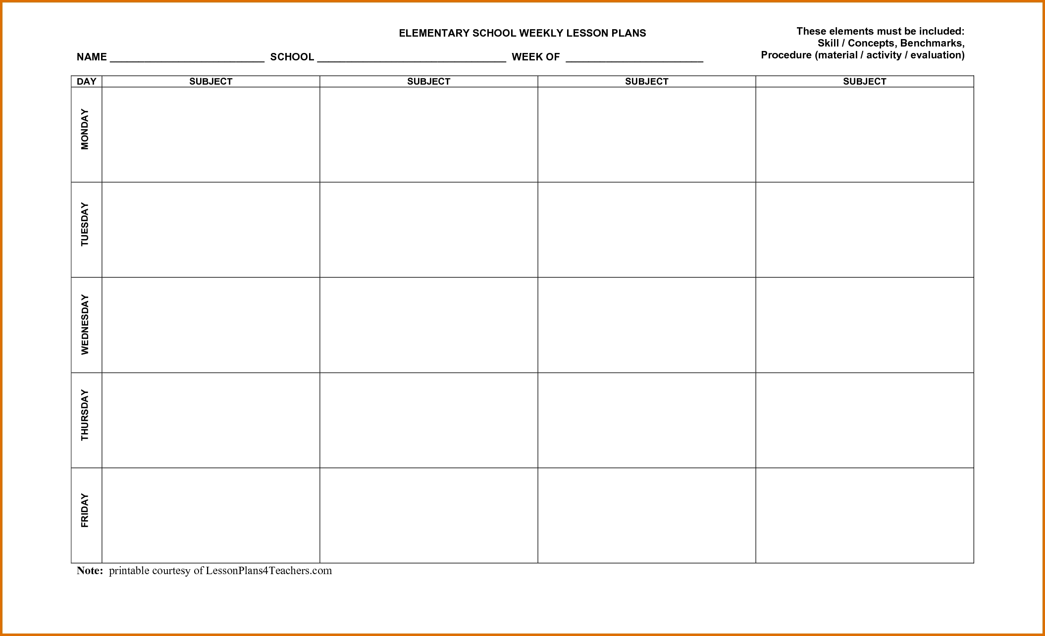 Templates For Curriculum Planning - Google Search | Lesson