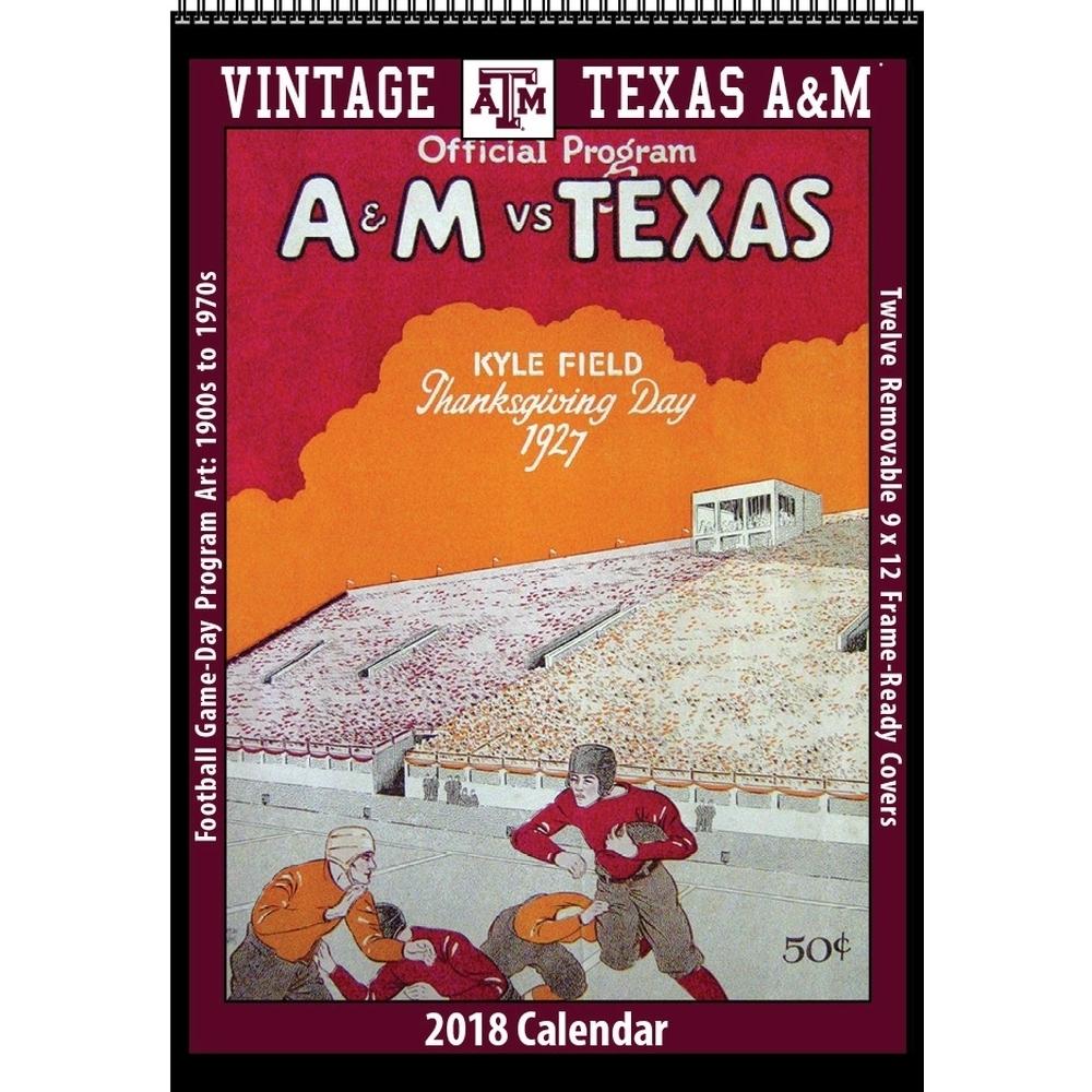 Texas A&m Vintage Football Wall Calendar, Texas A&m Aggiesasgard Press