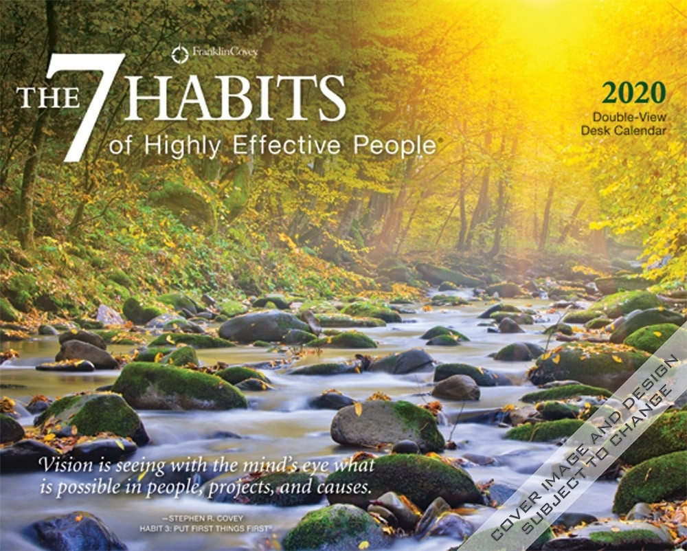 The 7 Habits Of Highly Effective People 2020 7.5 X 6 Inch