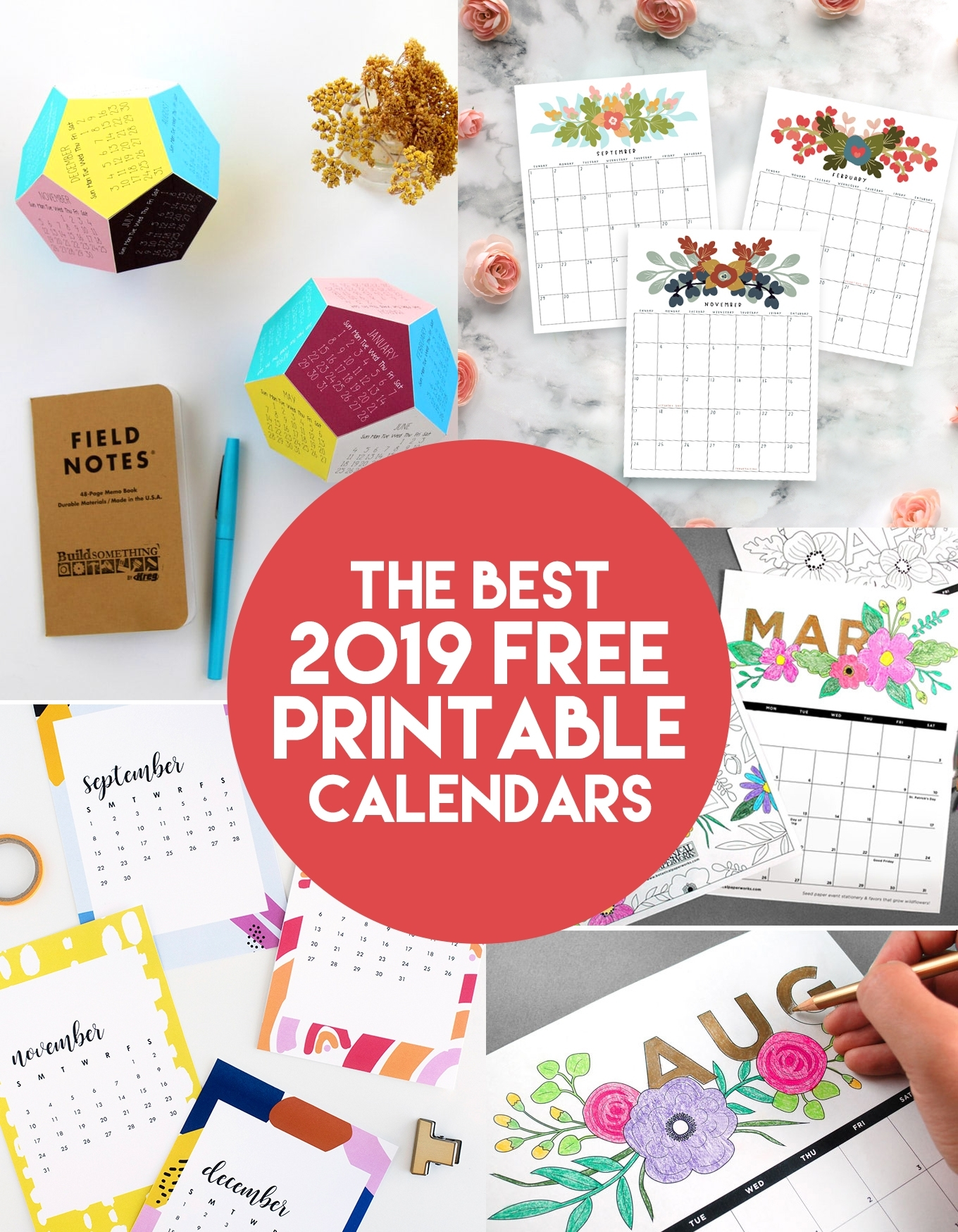 The Best 2019 Free Printable Calendars - The Craft Patch