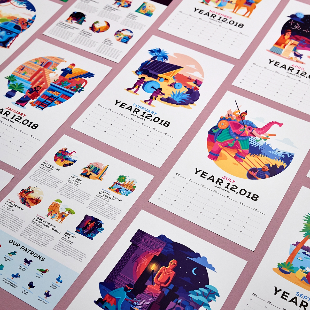 The Human Era Calender 12,018 On Behance