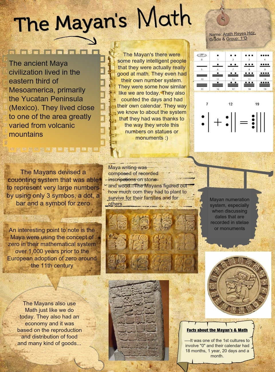 The Mayan's Math: Ancient, Civilization, En, History, Math