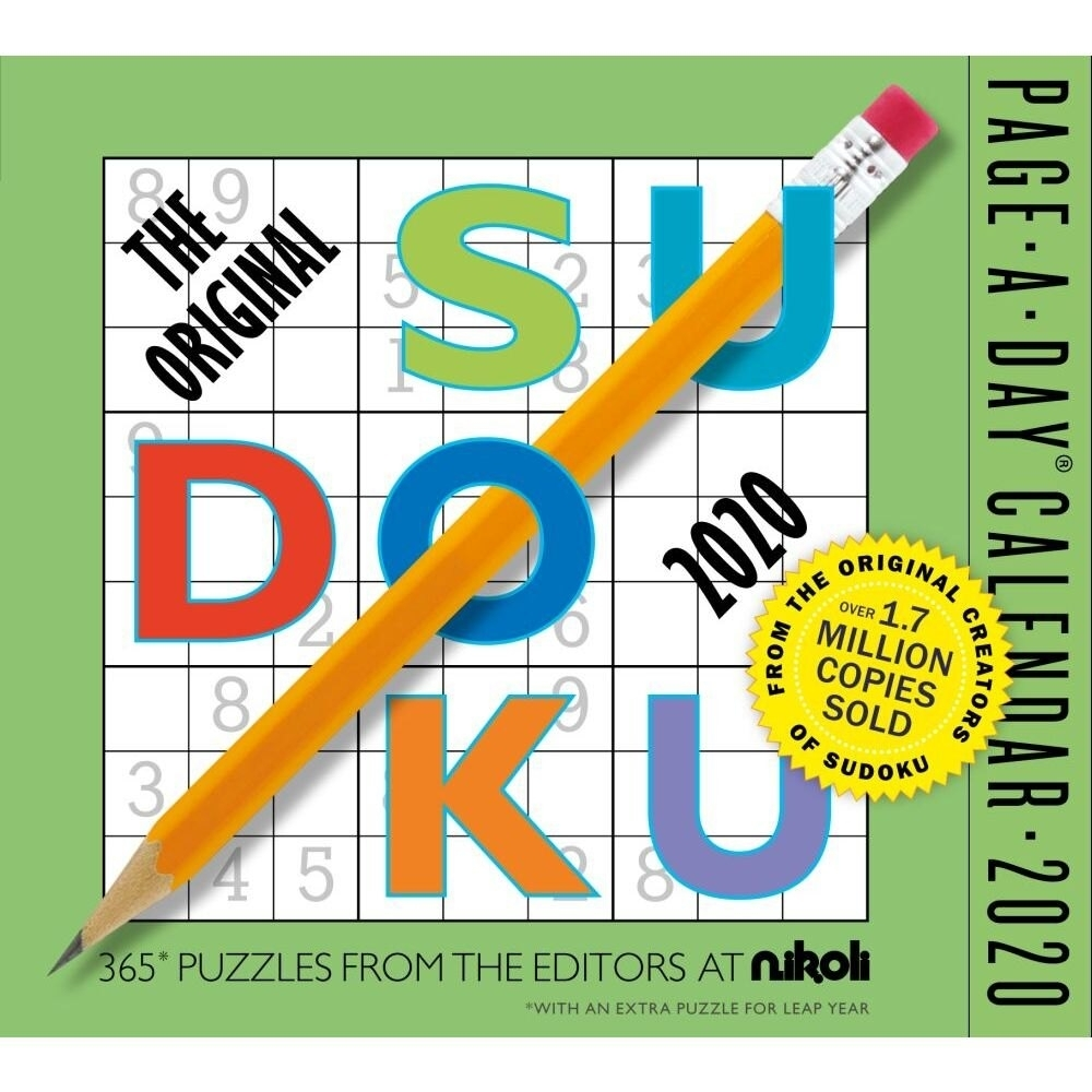 The Original Sudoku Page-A-Day Calendar 2020