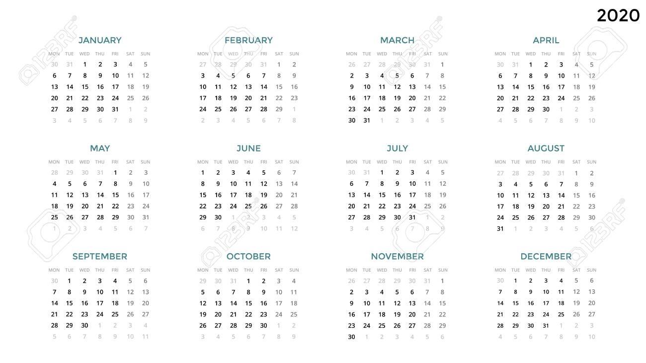 Time And Date Calendar 2020 | Free Printable Calendar