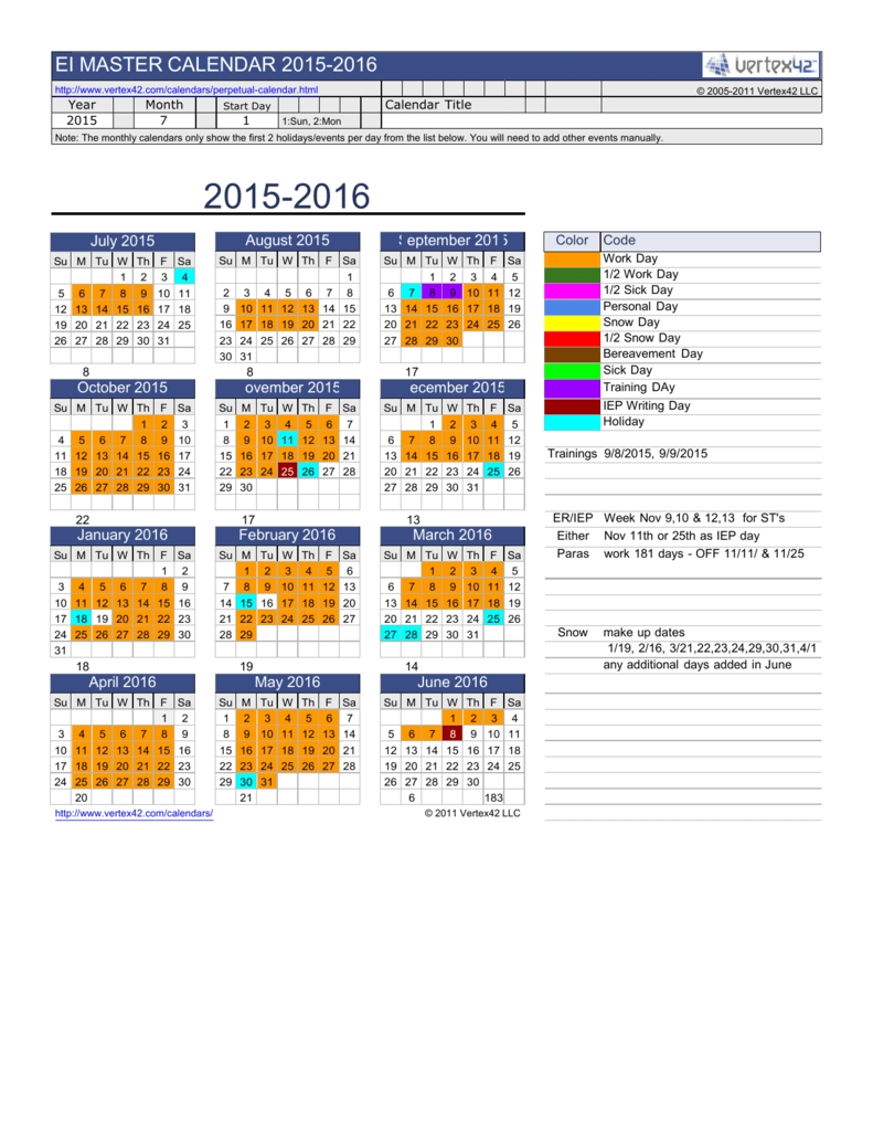 Tiu Calendar 15-16