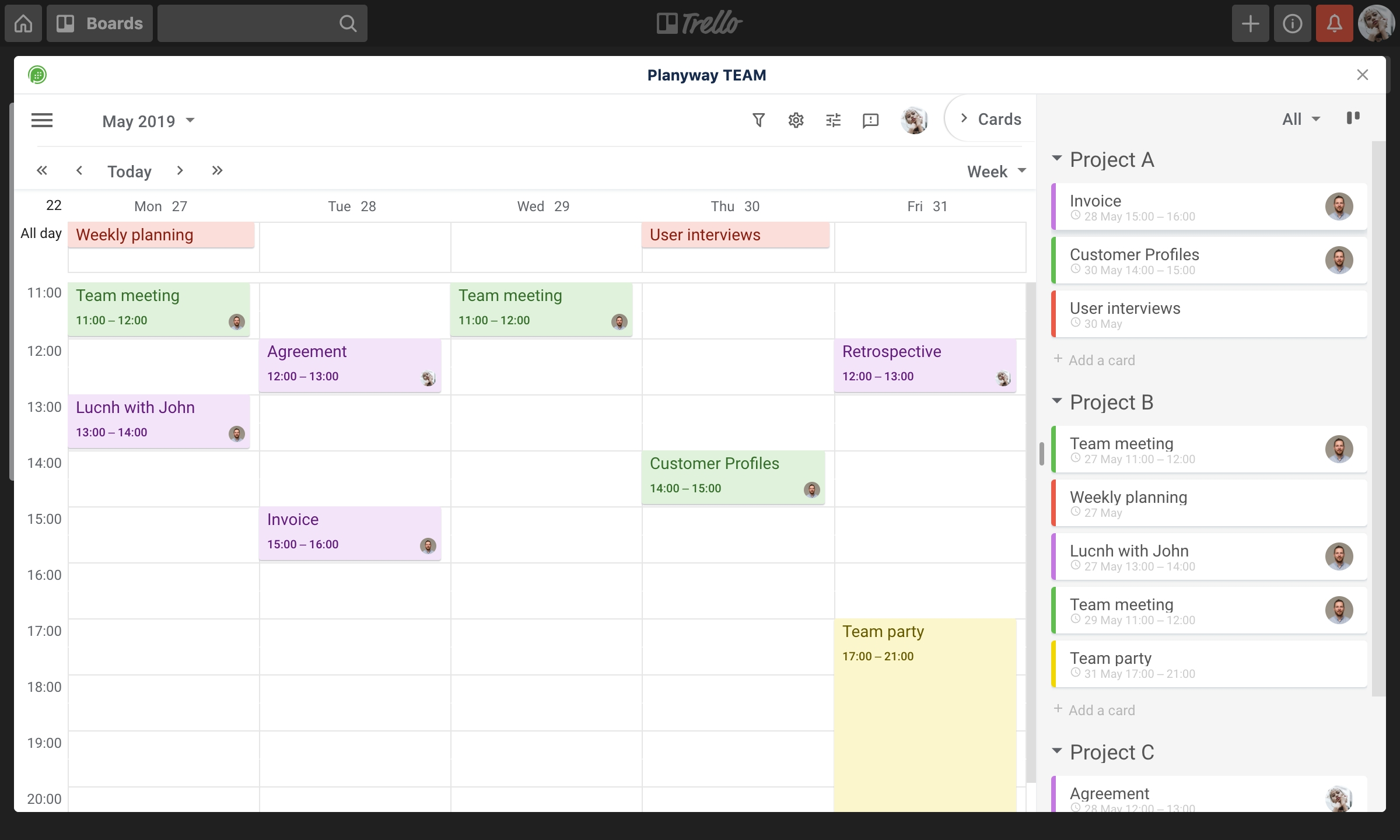Trello Power-Up | Planyway: Calendar And Timeline For Trello