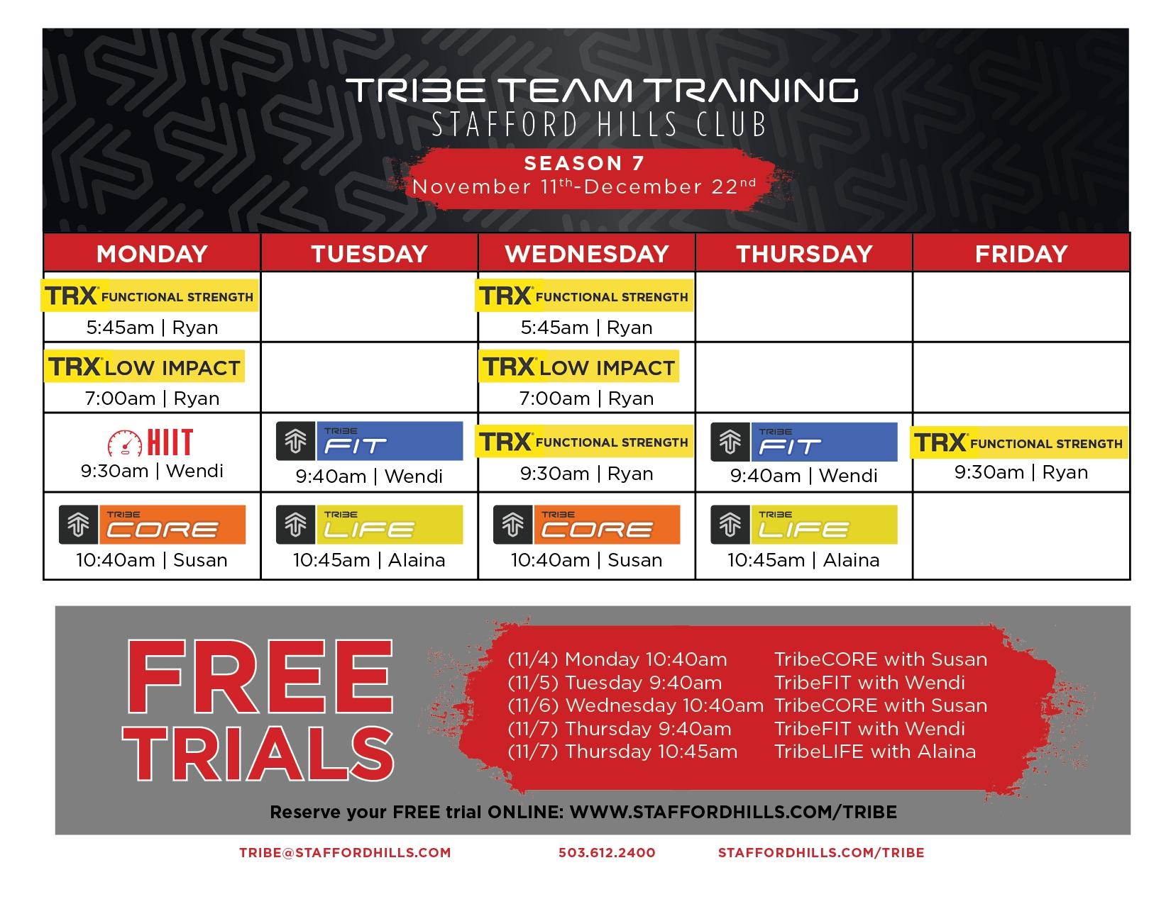 Tribe Team Training – Stafford Hills Club