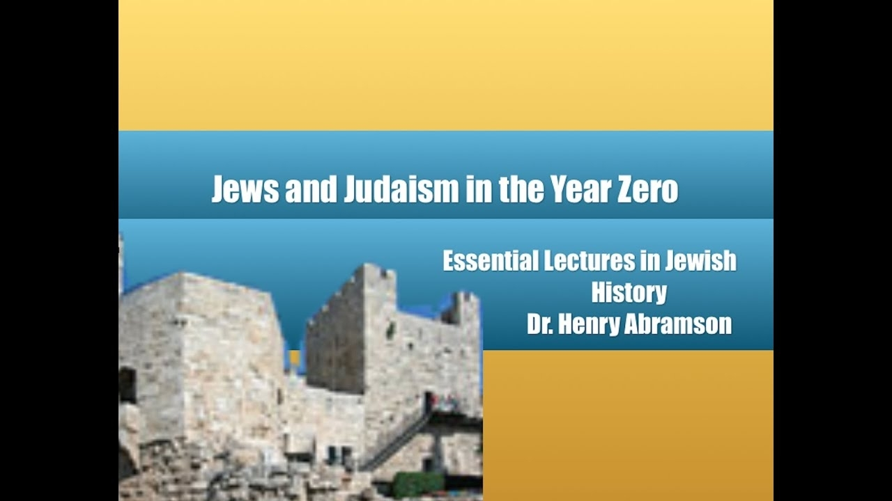 Two Jews, Three Opinions: Jews And Judaism In The Year Zero