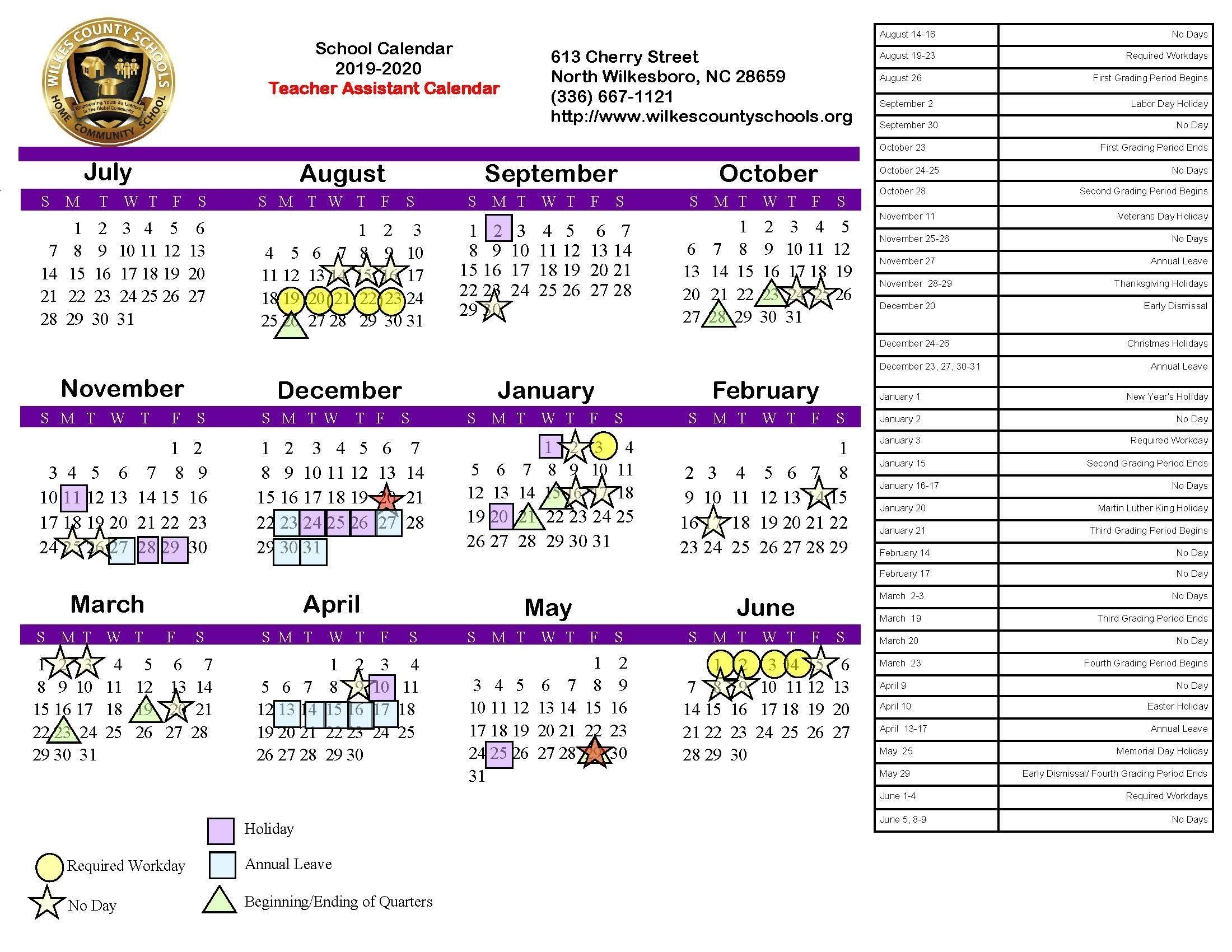 U Of M Calendar 2019-2020 School Year | Calendar Template