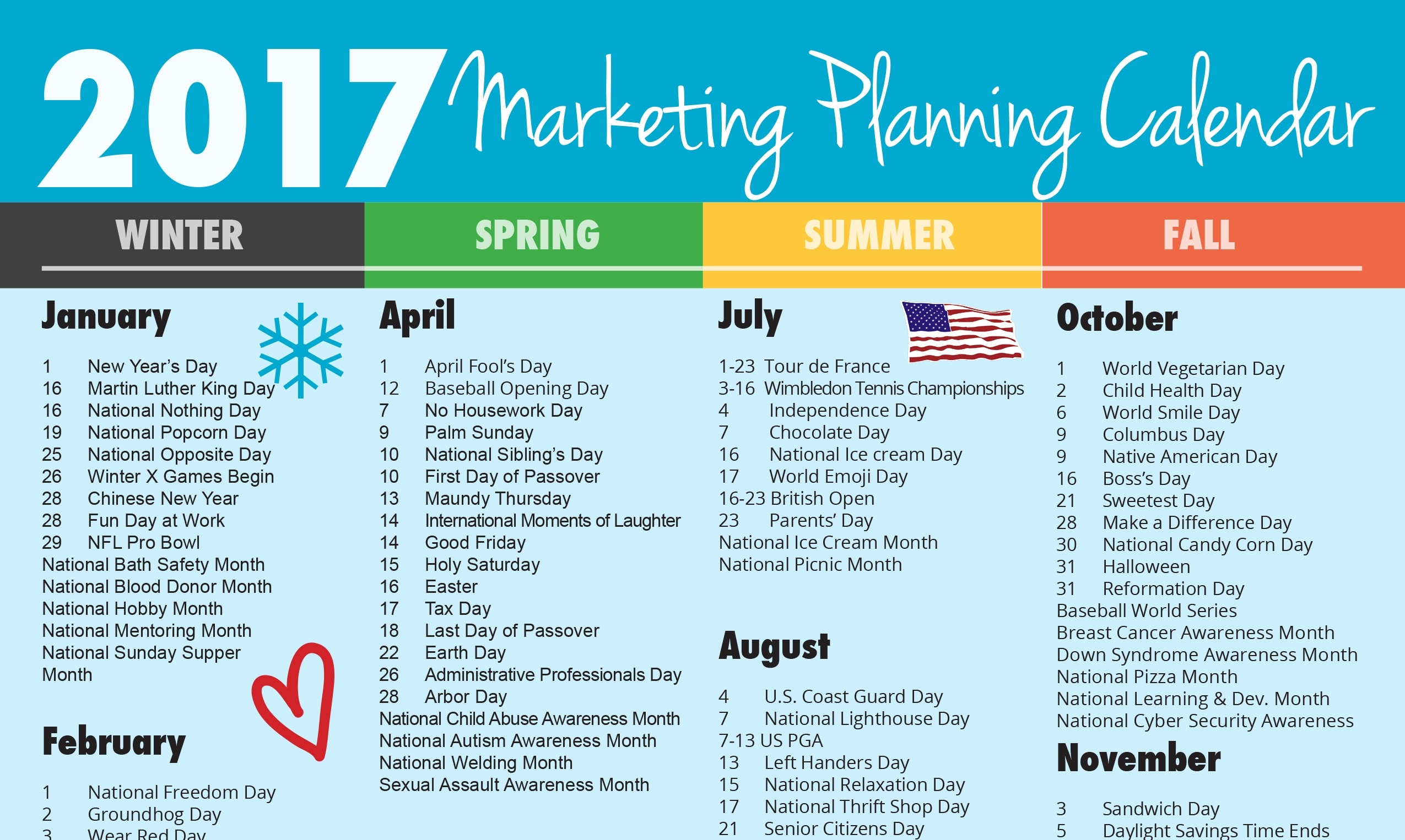 Ultimate 2017 Marketing Planning Calendar – Vandenberg Web +