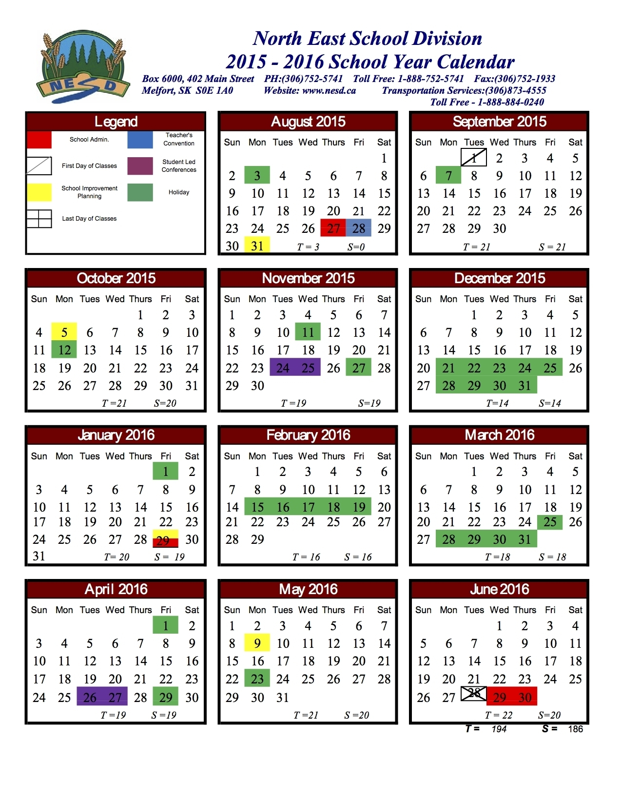 Unit 5 School Calendar 2019-20 | Calendar Design Ideas