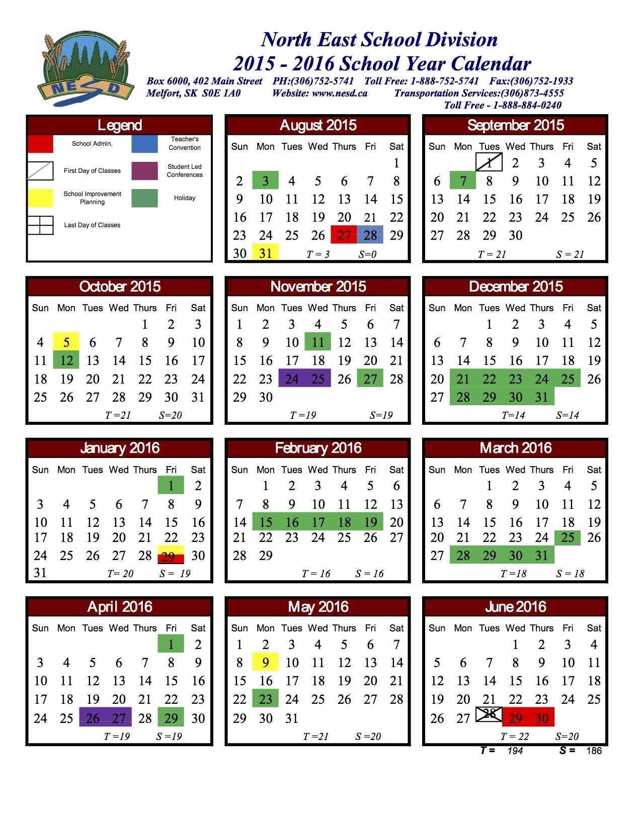 Unit 5 Printable Calendar