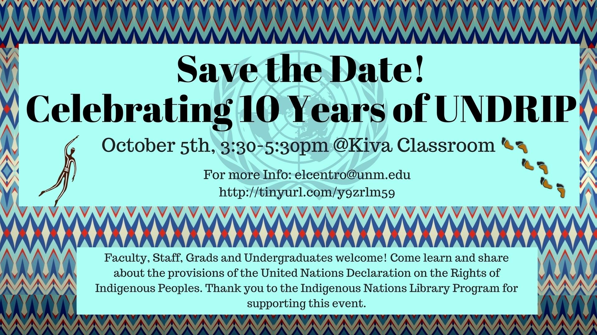 Unm Events Calendar - Celebrating Ten Years Of Undrip