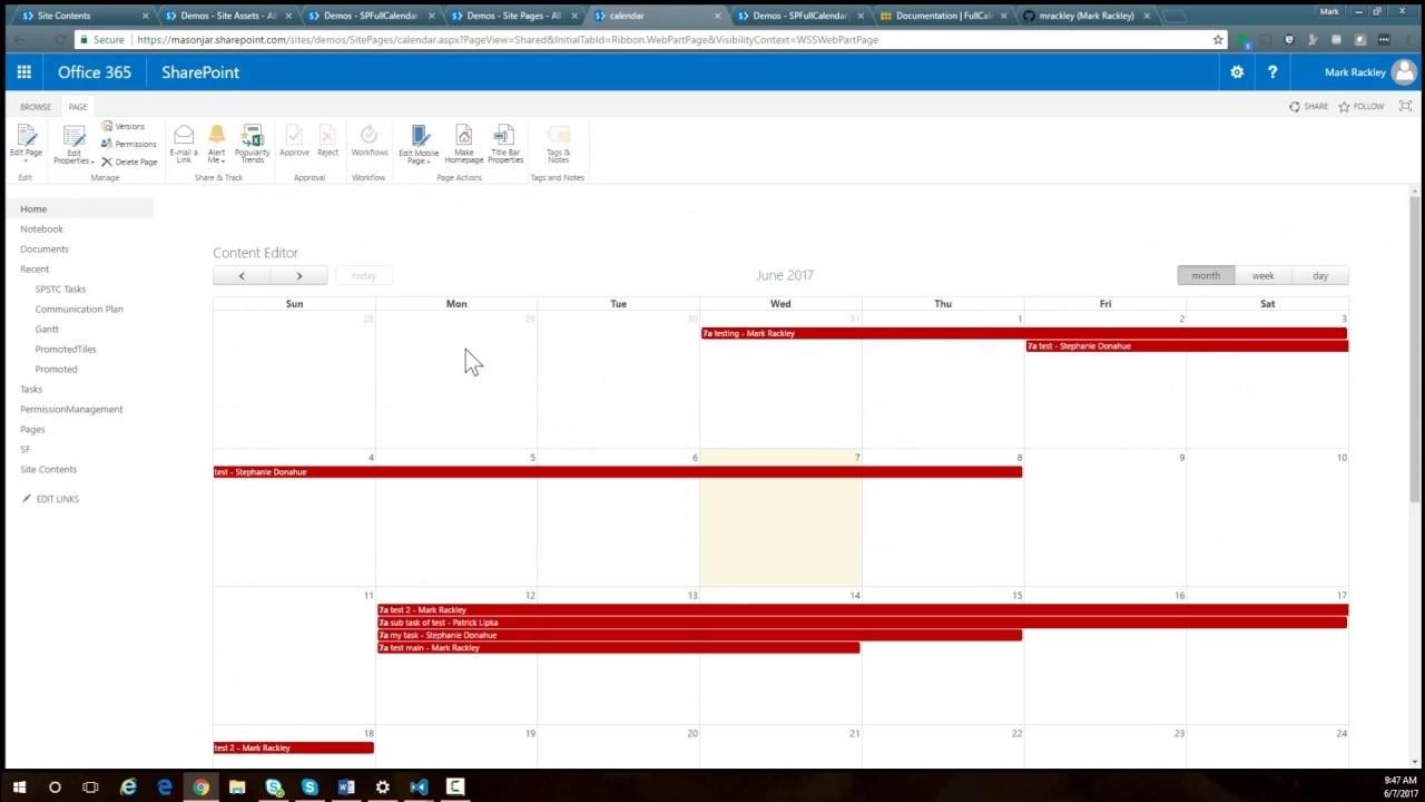 Using Fullcalendar.io To Create Custom Calendars In Sharepoint