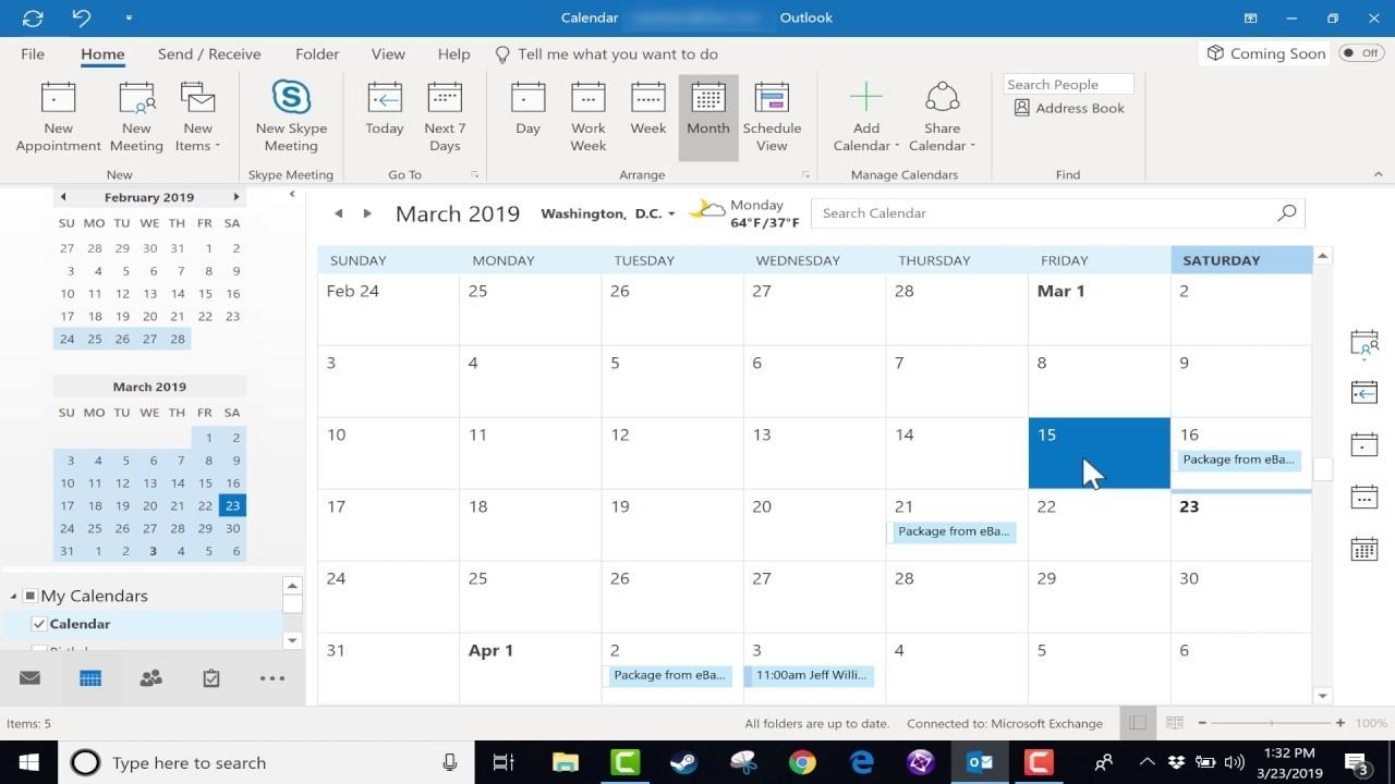 Using The Microsoft Outlook Calendar - 2019 Tutorial
