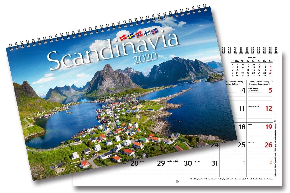 Wall Calendar Scandinavia 2020