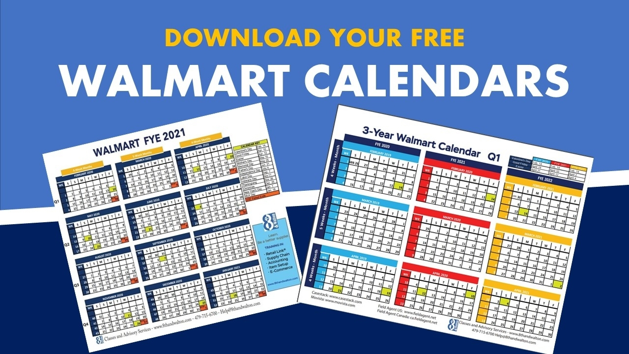 Walmart Fiscal Year Calendar   2019-2020   Free Download