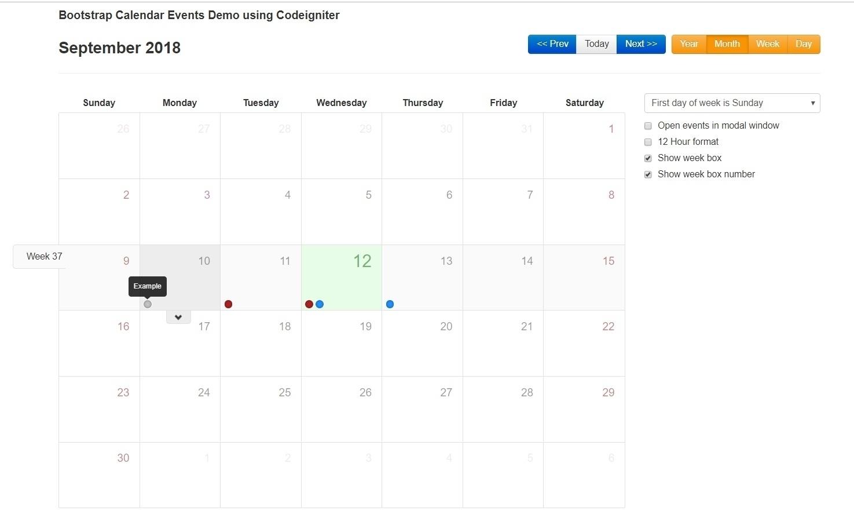 Week Calendar Json Example | Igotlockedout