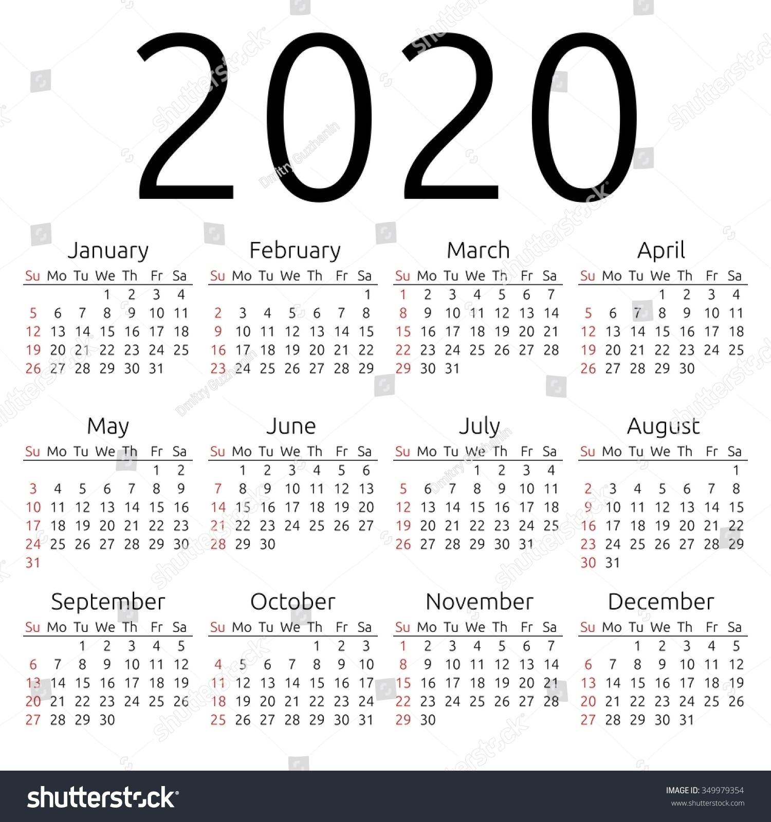 Week Number Calendar 2020 | 2020 Calendar