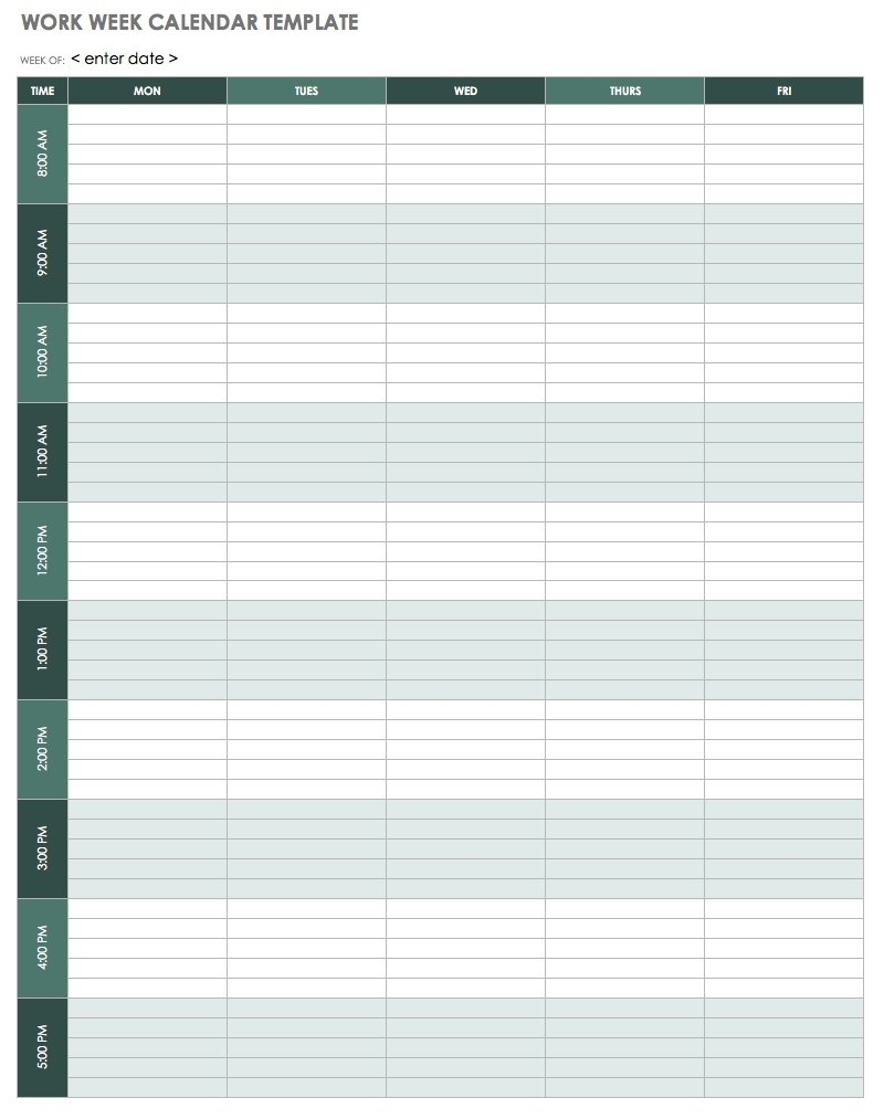 Weekly Calendarhour