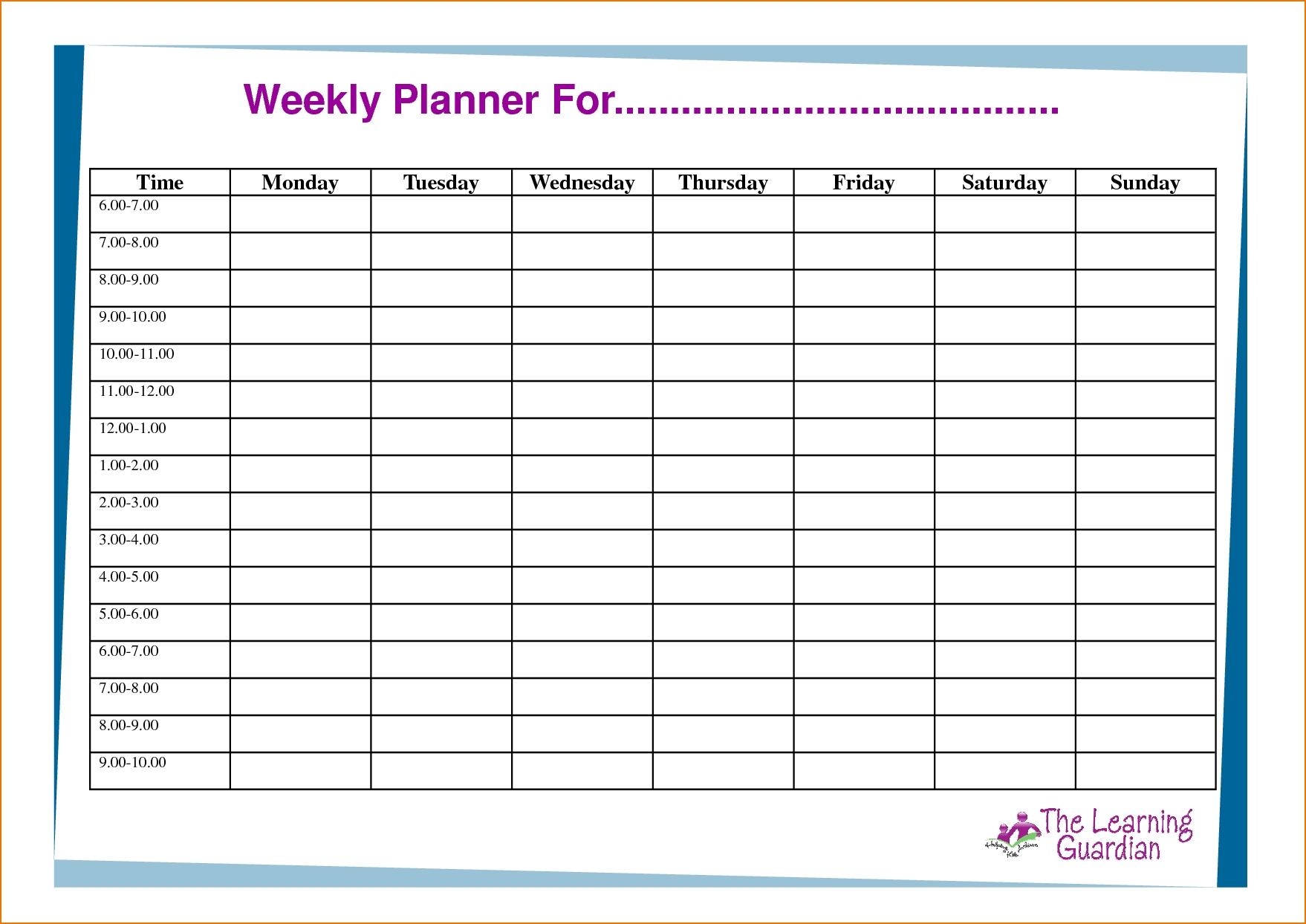 Weekly Task List Template Samples To Inspire You   Koolioo