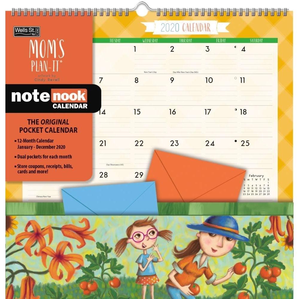 Wells Streetlang, 2020 Moms Note Nook Wall Calendar