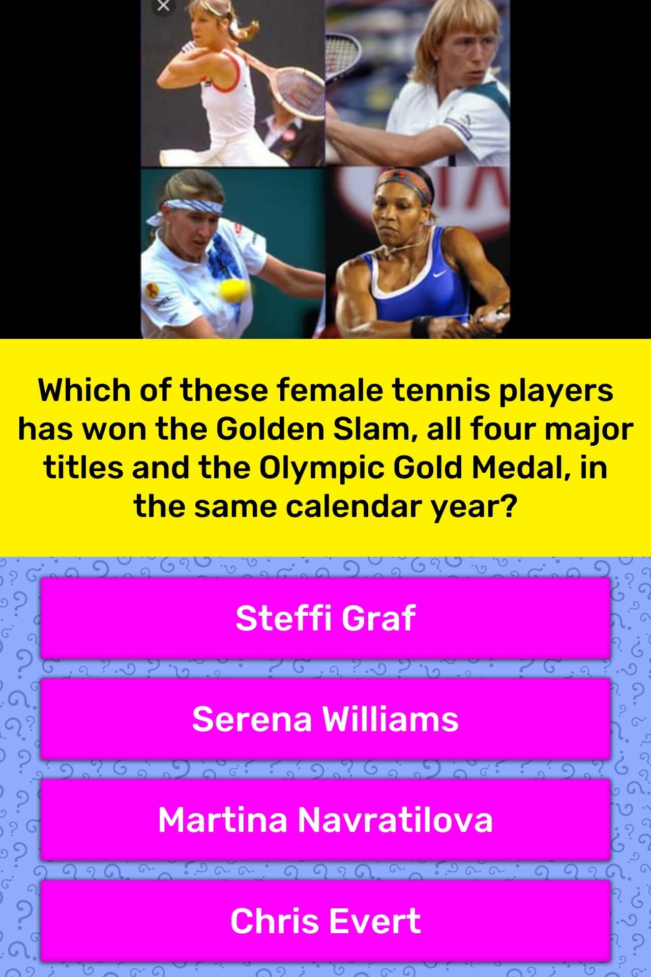Which Of These Female Tennis Players | Trivia Answers