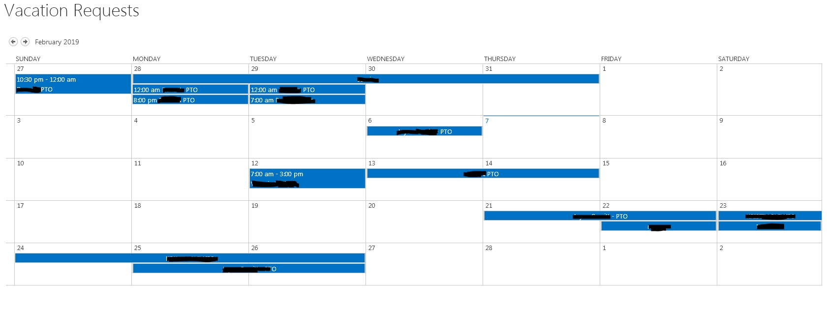 Why Are Events In Calendar View Overflowing Day Boxes When