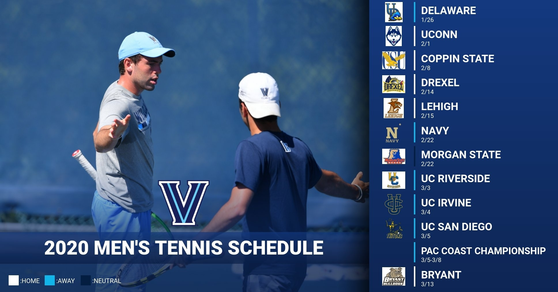 Wildcats Release 2020 Schedule - Villanova University Athletics