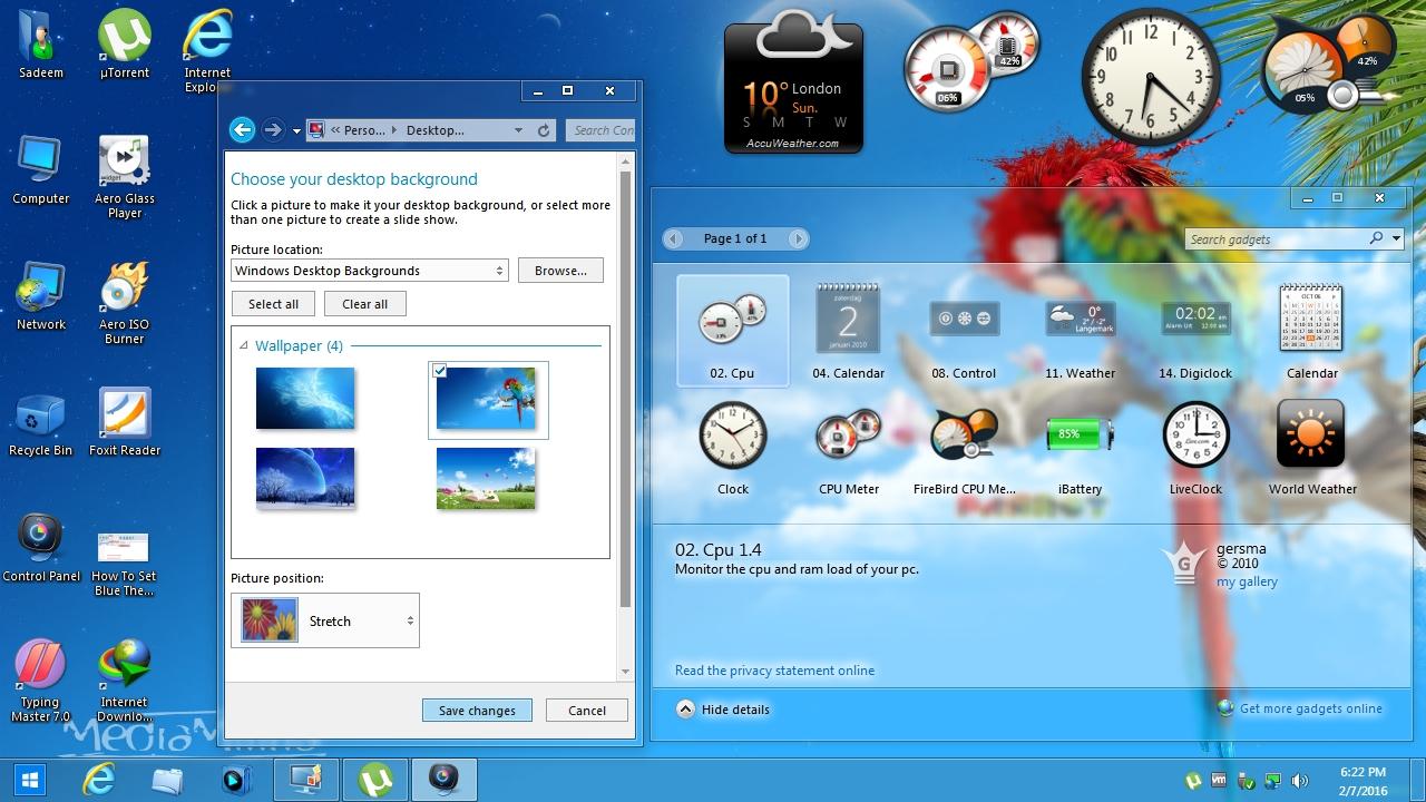 Windows 7 Aero Blue Lite Edition 2016 (X86) Free Download