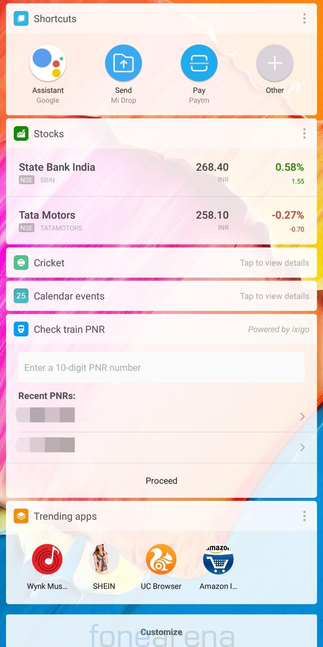Xiaomi Miui App Vault Gets Option To Check Train Pnr