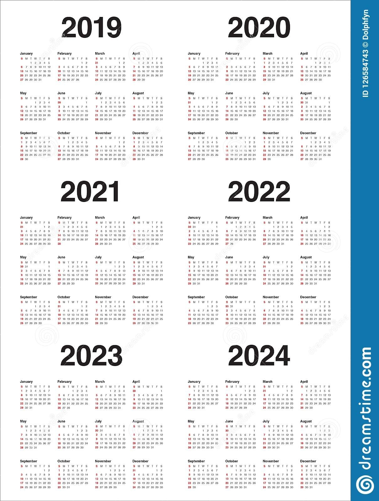 3 Year Calendar 2022 To 2024 | Month Calendar Printable