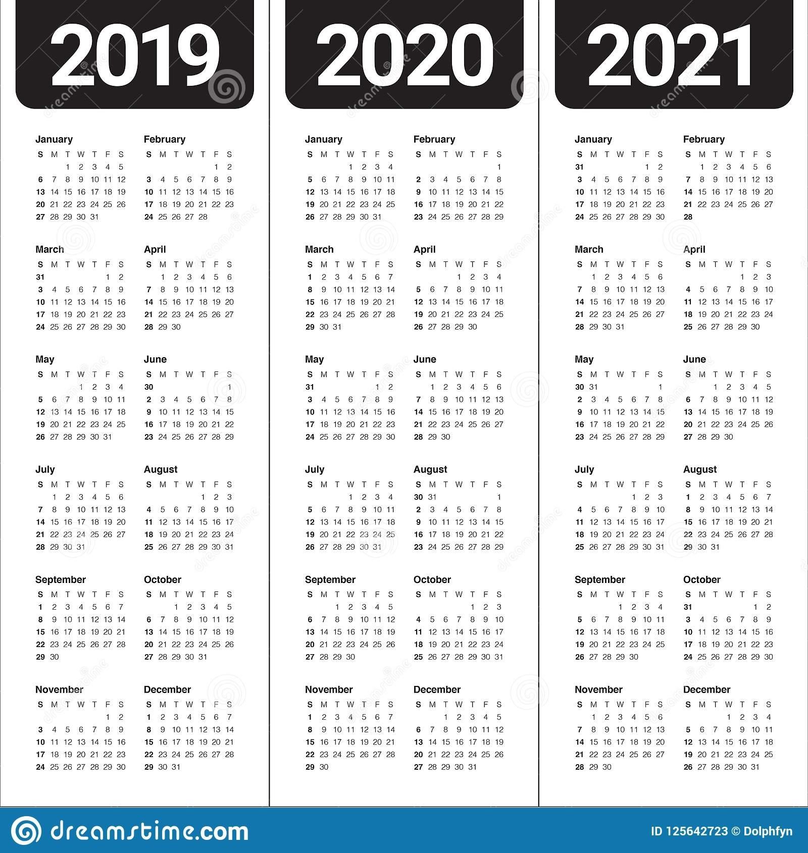 6 Year Calendar 2020 To 2021 | Month Calendar Printable