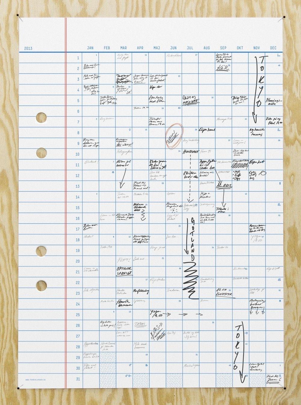Year Calendar, 50X70Cmerik Olovsson. | Design | Birthday