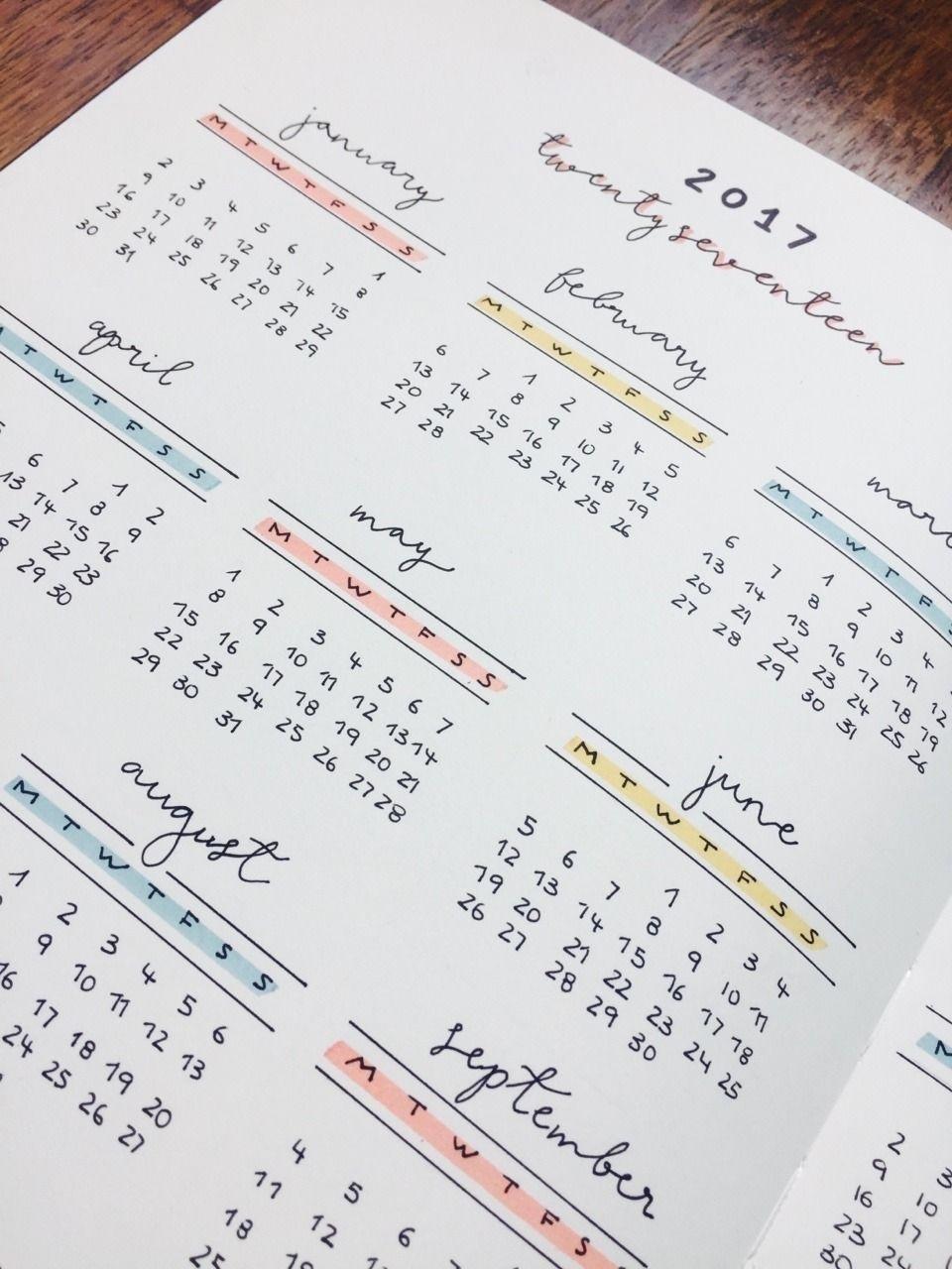 Year Calendar Nujo | Bullet Journal Inspiration, Bullet
