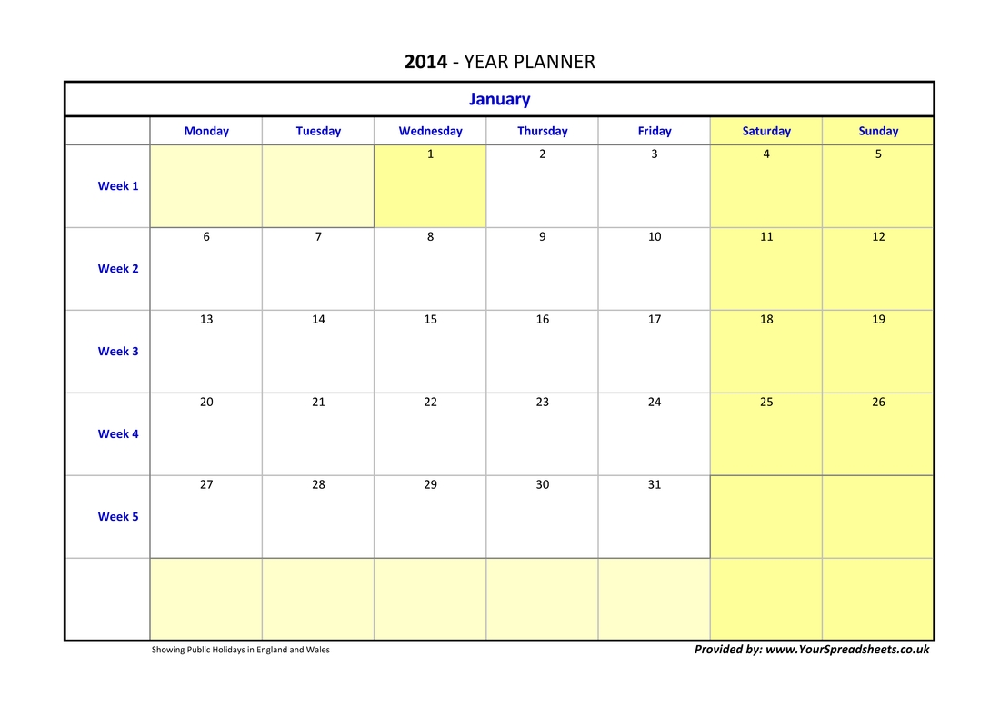 Year Planner Germany
