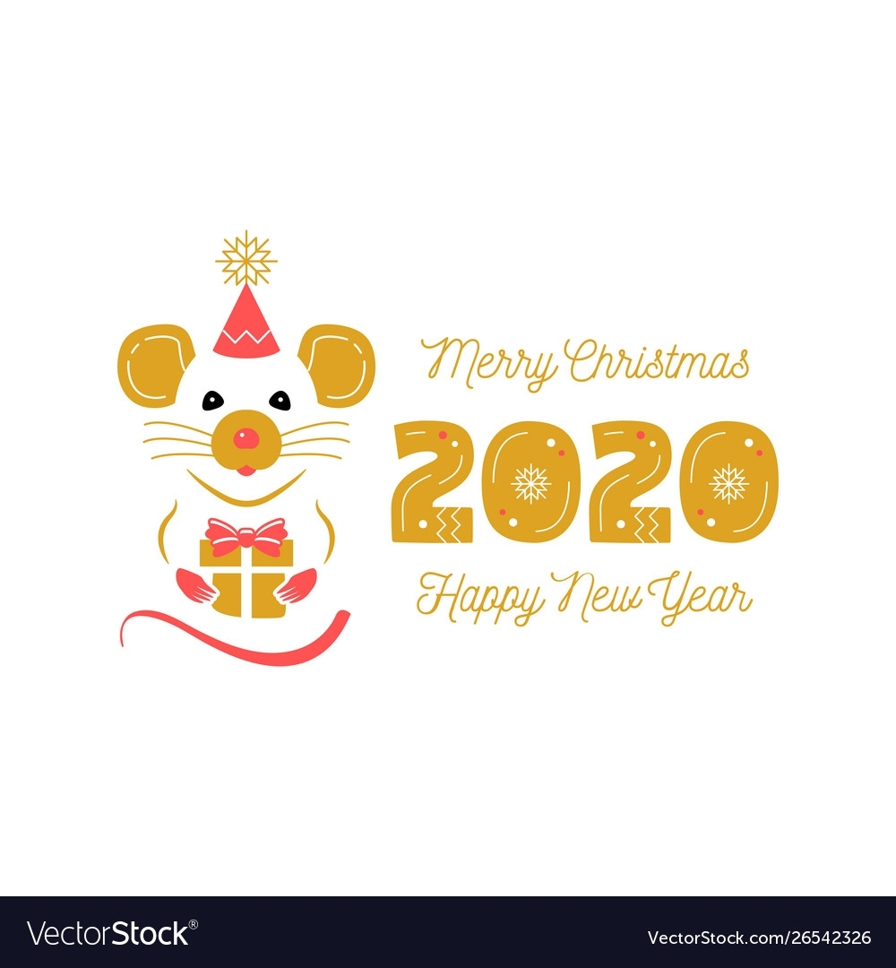 Year Rat 2020 Chinese Zodiac Christmas