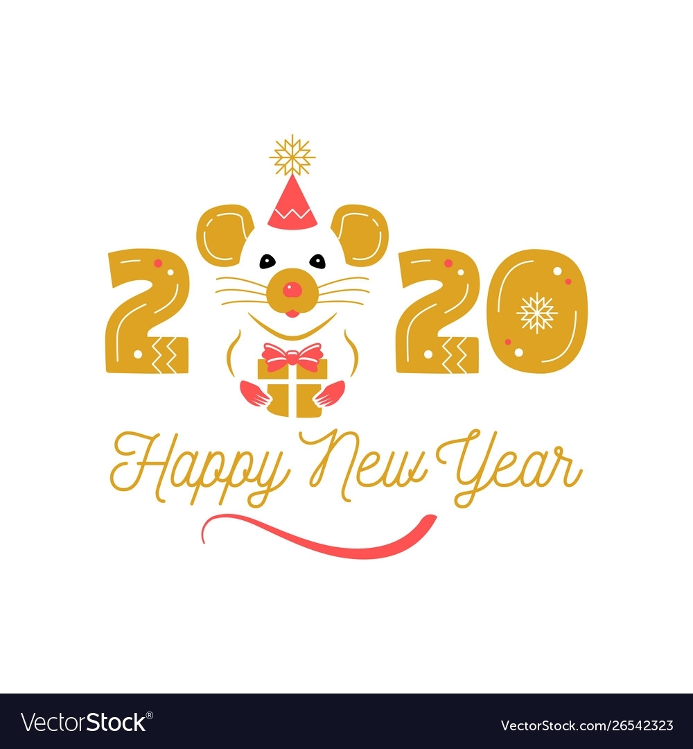 Year Rat 2020 Chinese Zodiac Happy New