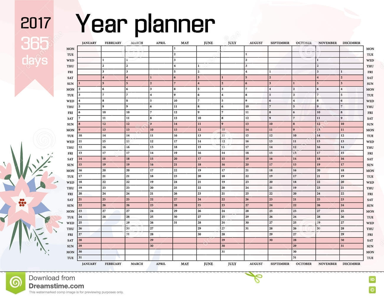 Year Wall Planner. Plan Out Your Whole With This 2017