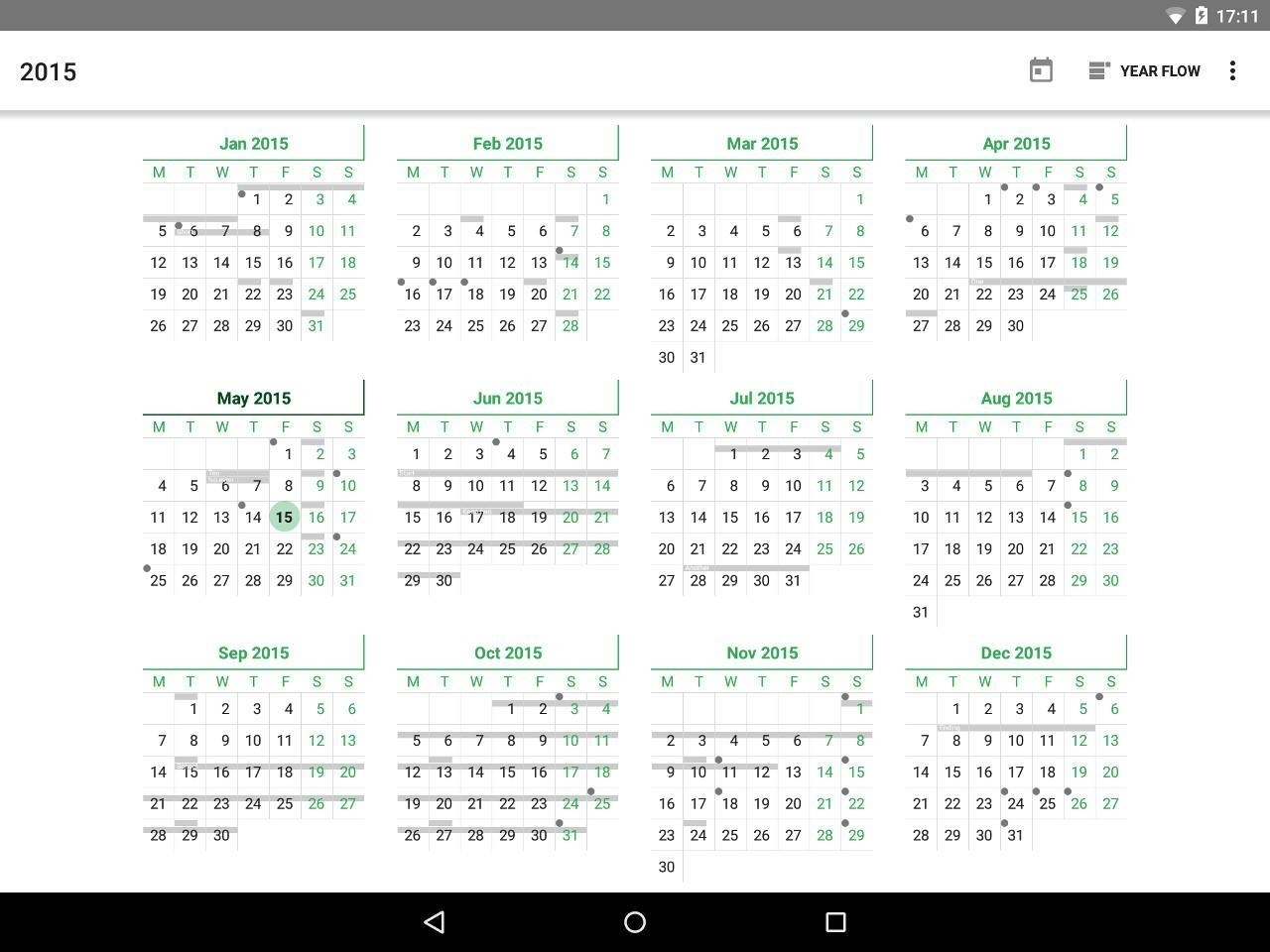 Yearcal Calendar Year View For Android - Apk Download