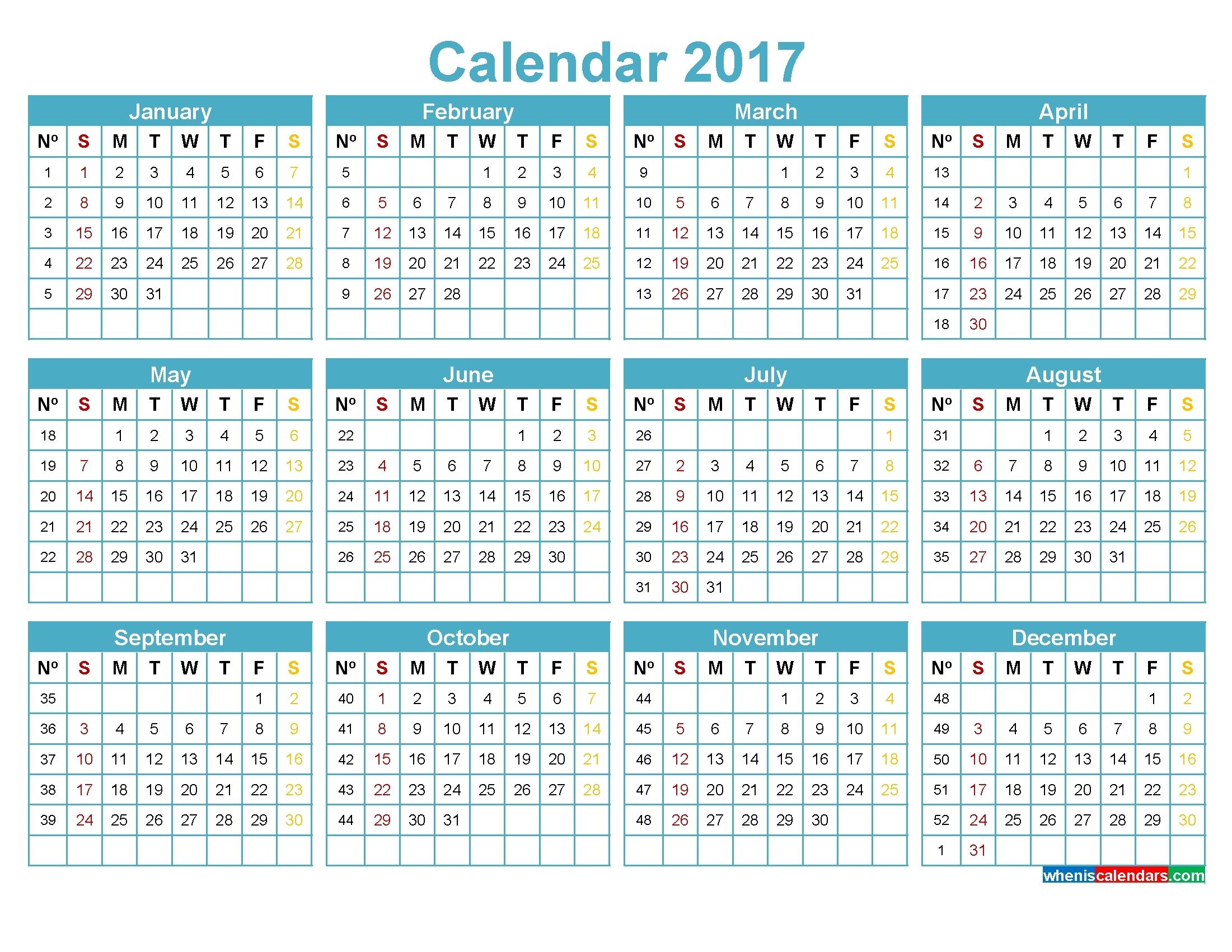 Yearly Calendarweek – Monthly Printable Calendar