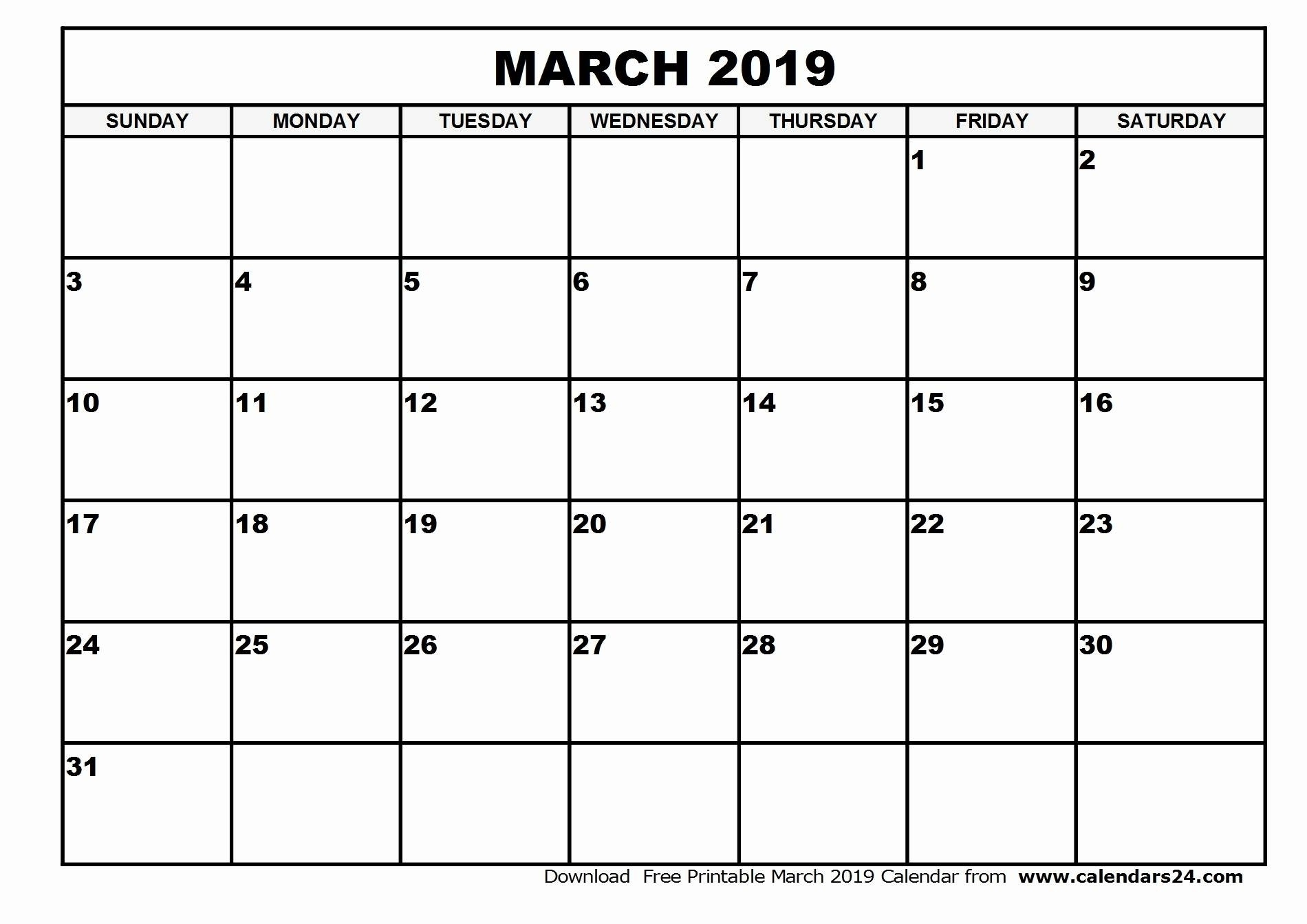 035 Free Printable Blank Calendar Template Monthly Templates