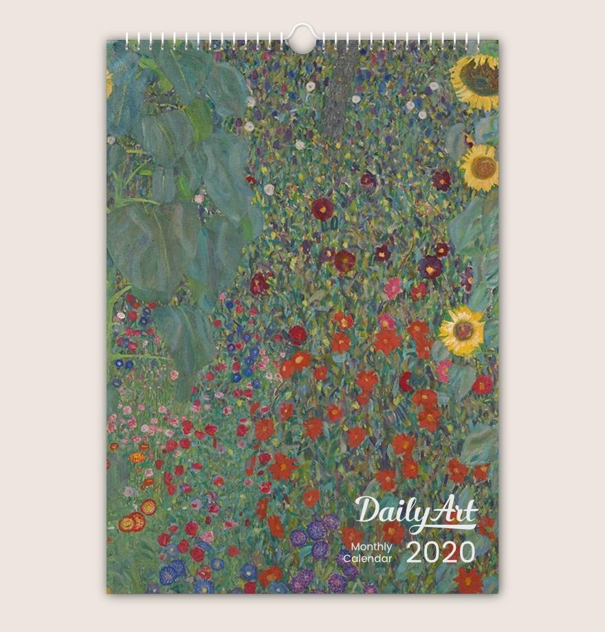 12 Months Masterpieces Dailyart A3 Wall Calendar 2020