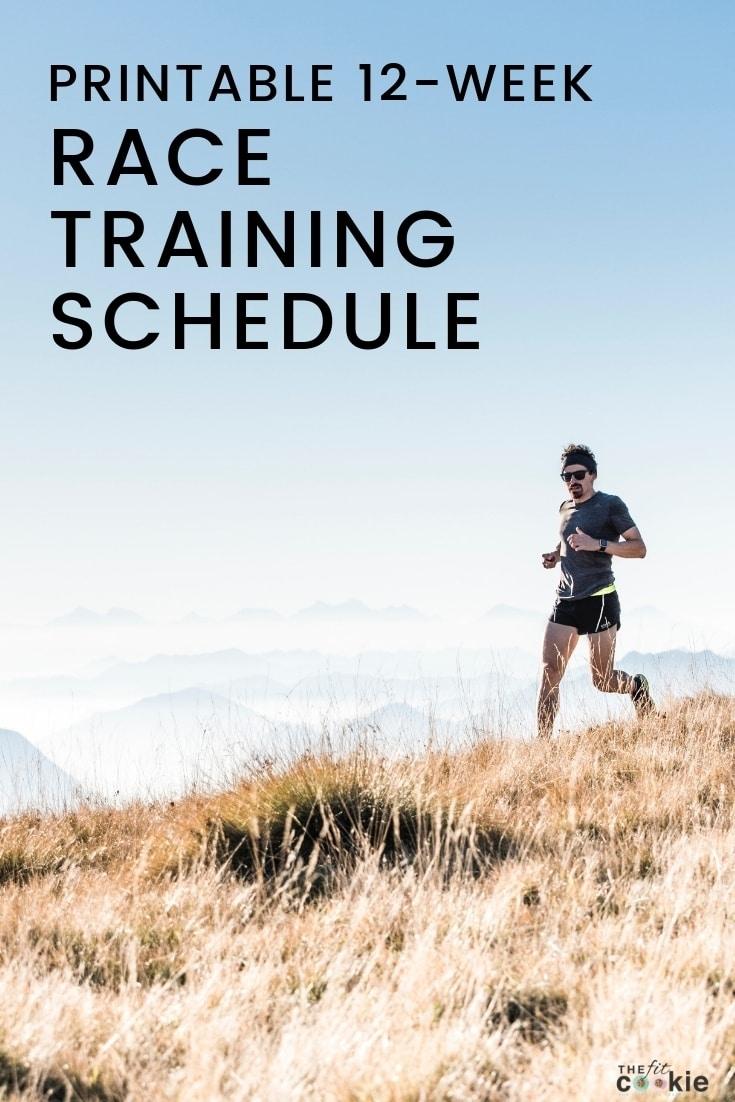 12-Week Blank Printable Race Training Schedule • The Fit Cookie