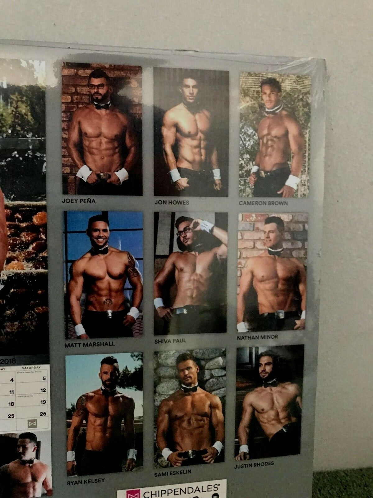2018 Chippendales Wall Calendar, Hot Guysacco Brands