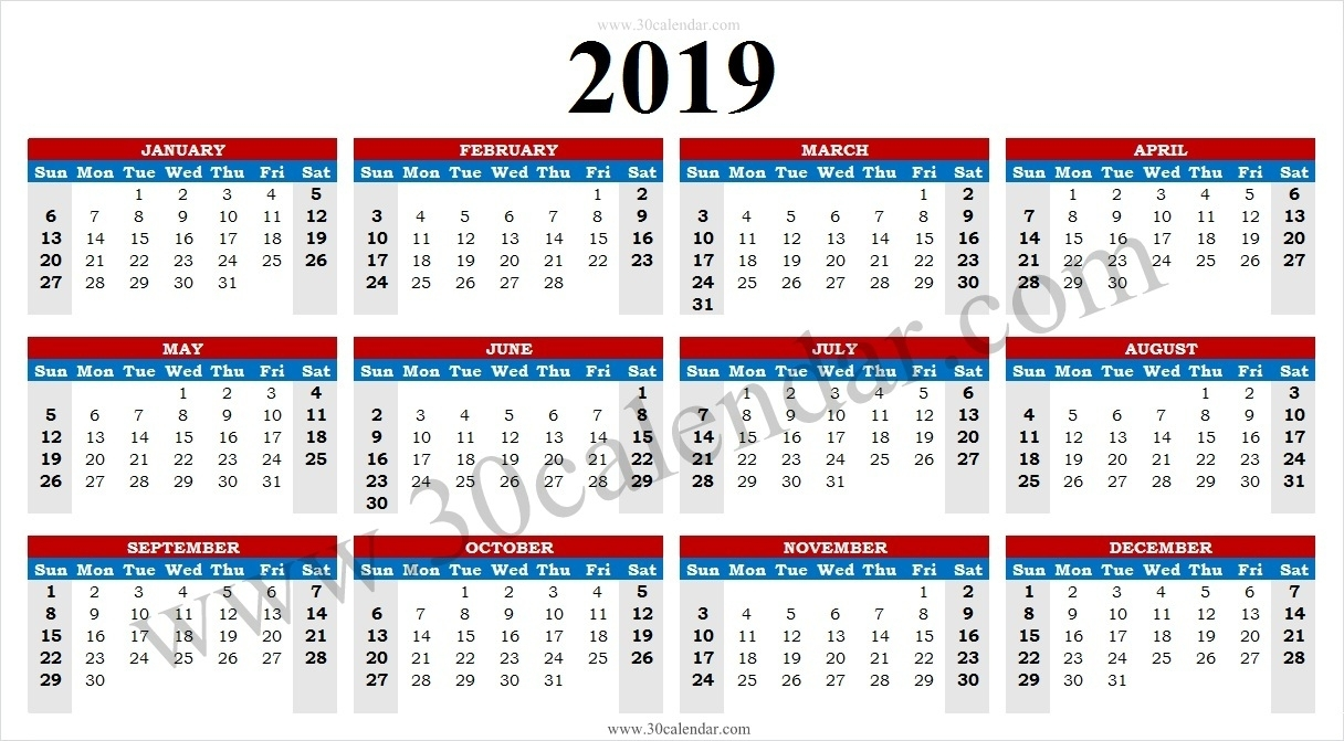 2019 Calendar Uk With Week Numbers | January 2019 Calendar
