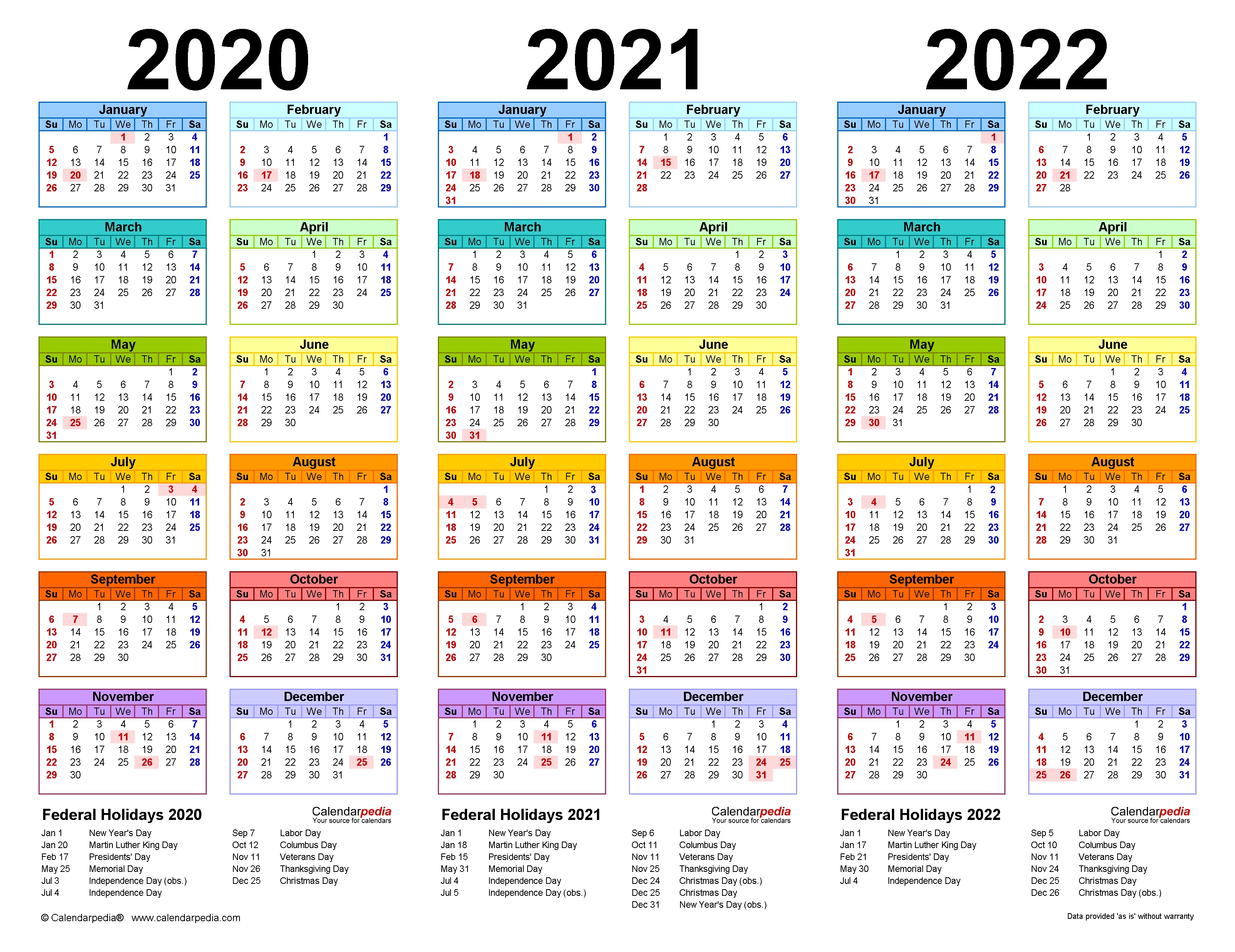 3 Year Calendar At A Glance | Month Calendar Printable