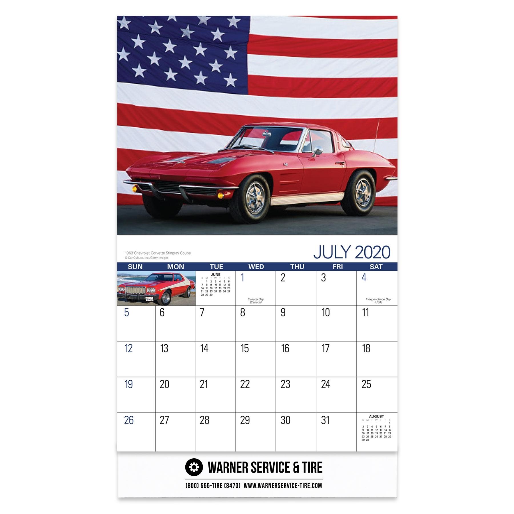 2020 American Muscle Cars Wall Calendar 2020 American Muscle Cars Wall  Calendar