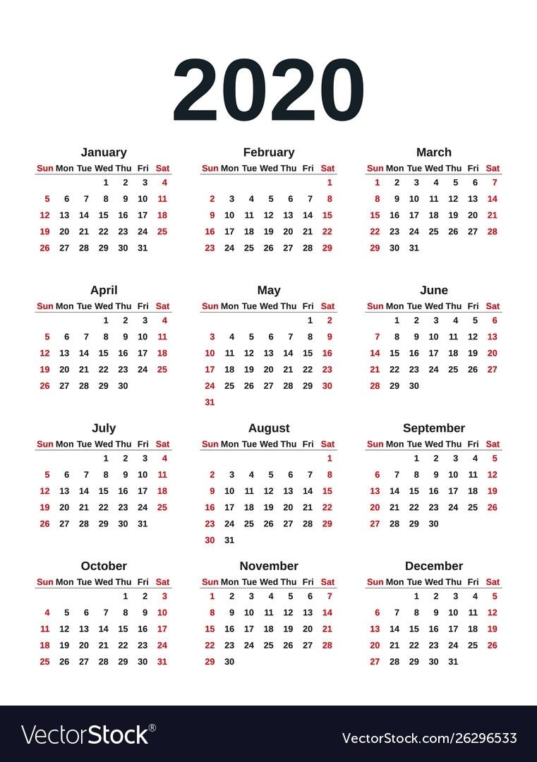 Calendar Year Like 2020